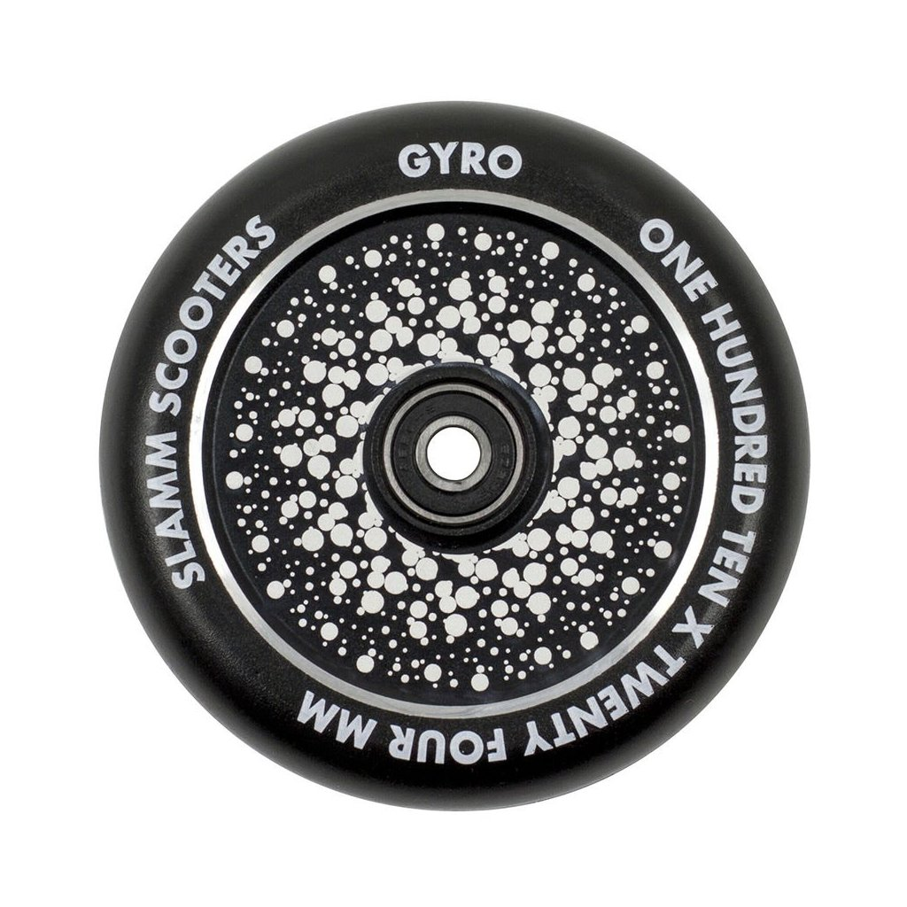 Slamm - Gyro Hollow Core Black 110 mm kolečka (1ks)