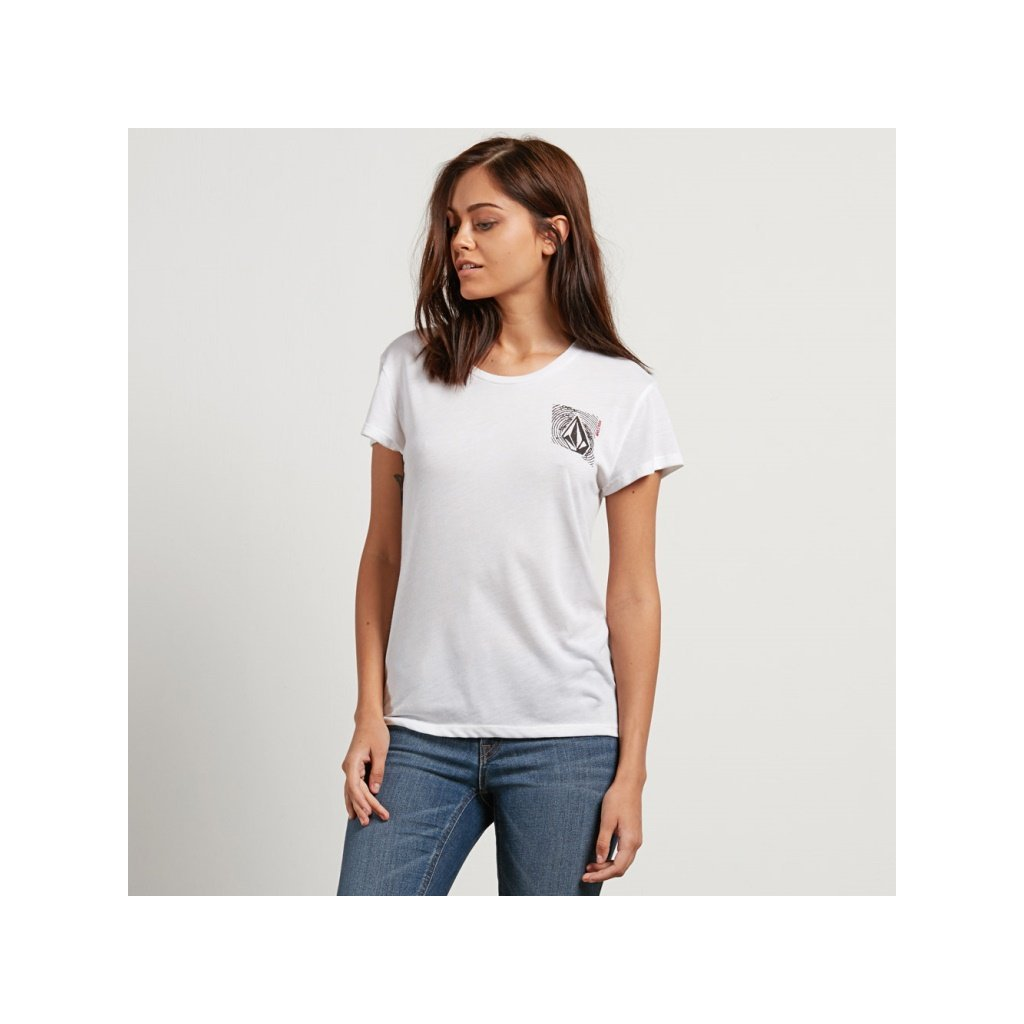 Volcom - Easy Babe Rad 2 Tee White - Dámské tričko