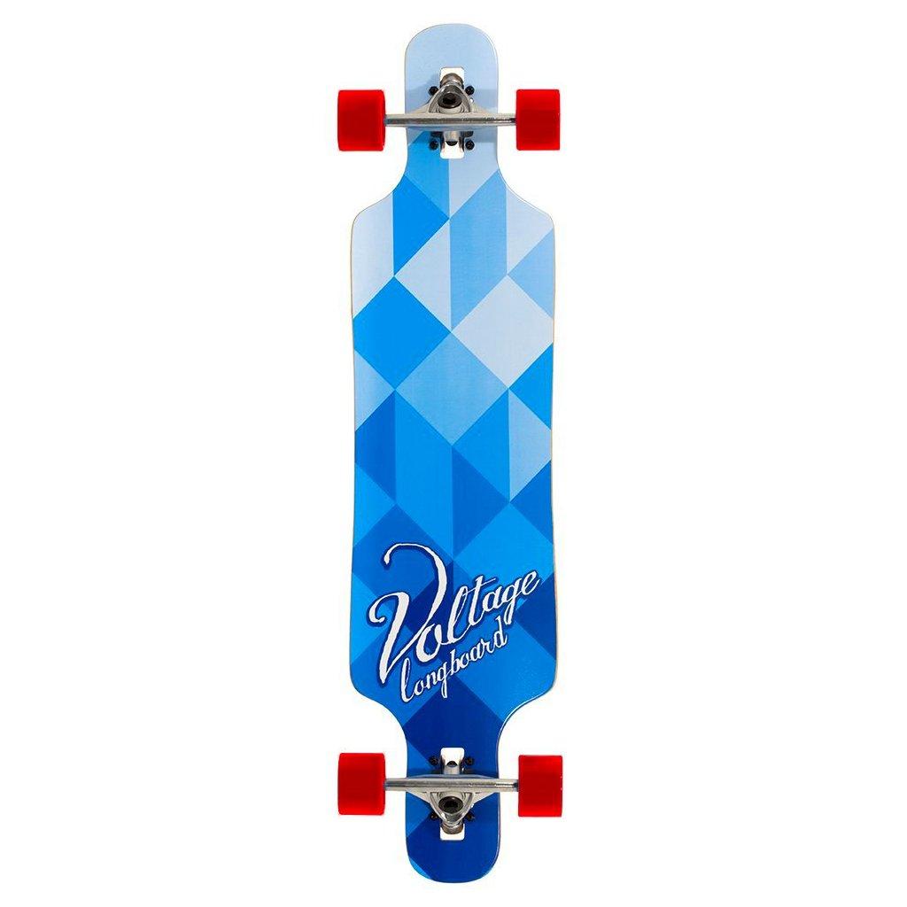 """Voltage - Cubism DT V2 39"""" Blue longboard"""