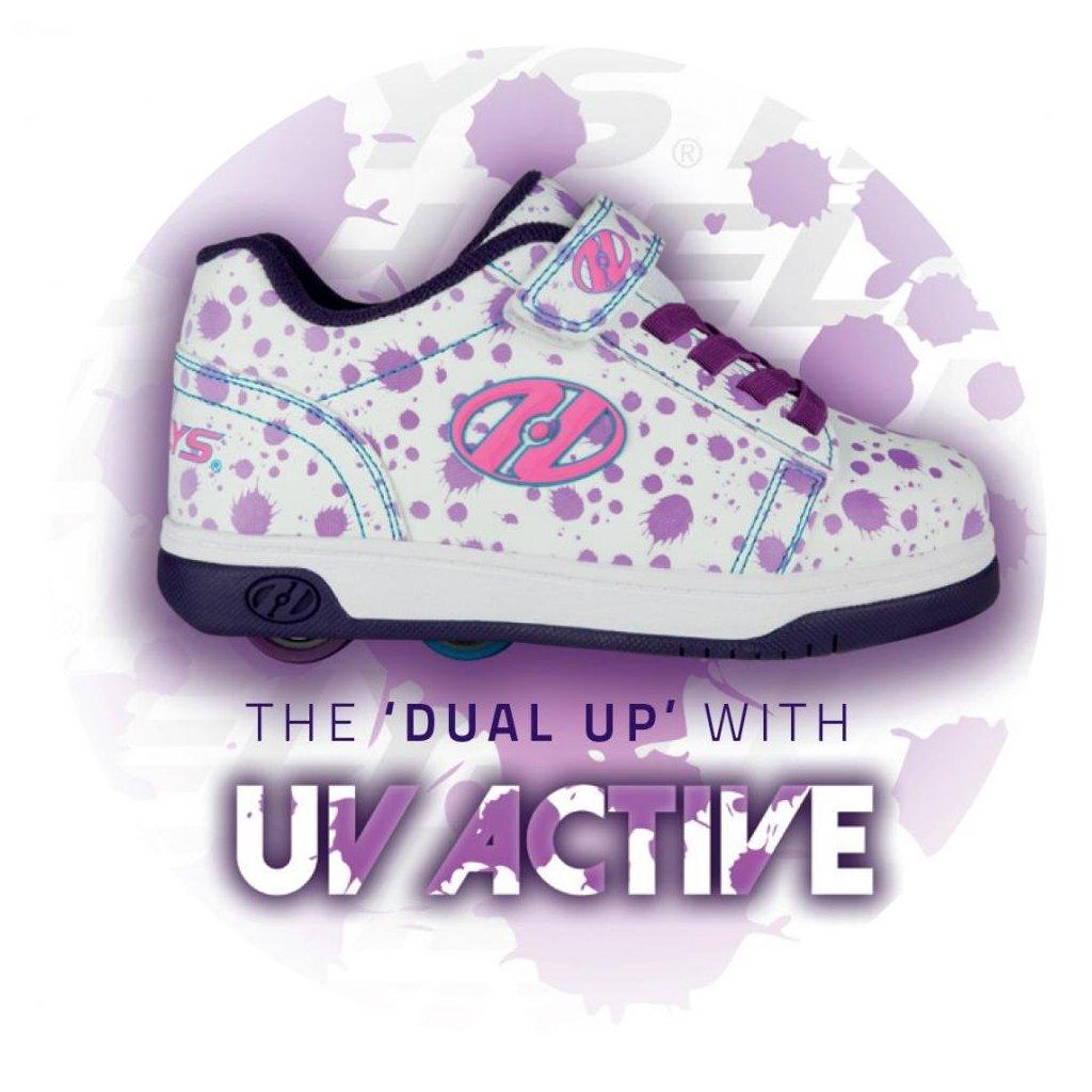 Heelys - X2 Dual Up UV - White/Purple/Splatter - koloboty