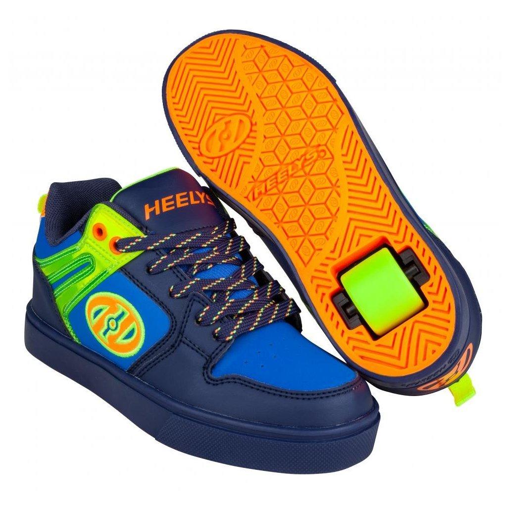 Heelys - Motion 2.0 Navy/Bright Yellow/Orange - koloboty