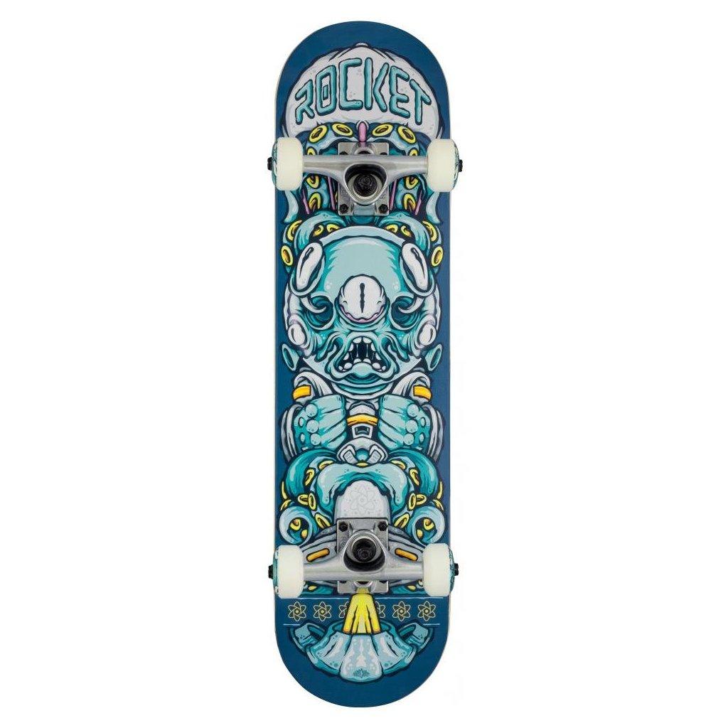 "Rocket - Alien Pile-up Blue - 7.375"" - skateboard"