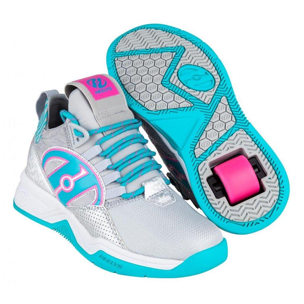 Heelys - Bandit Grey/Aqua/Hot Pink - koloboty