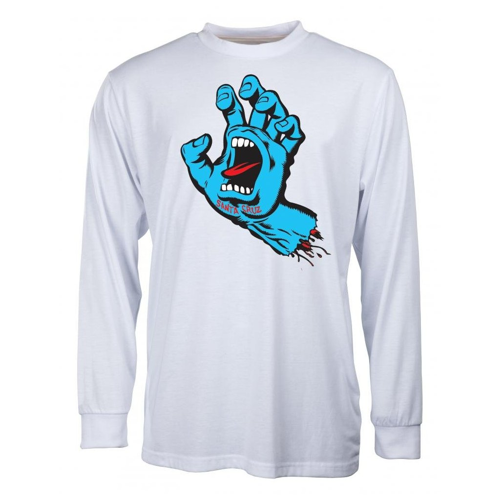 Santa Cruz - Screaming Hand Longsleeve White - Pánské triko