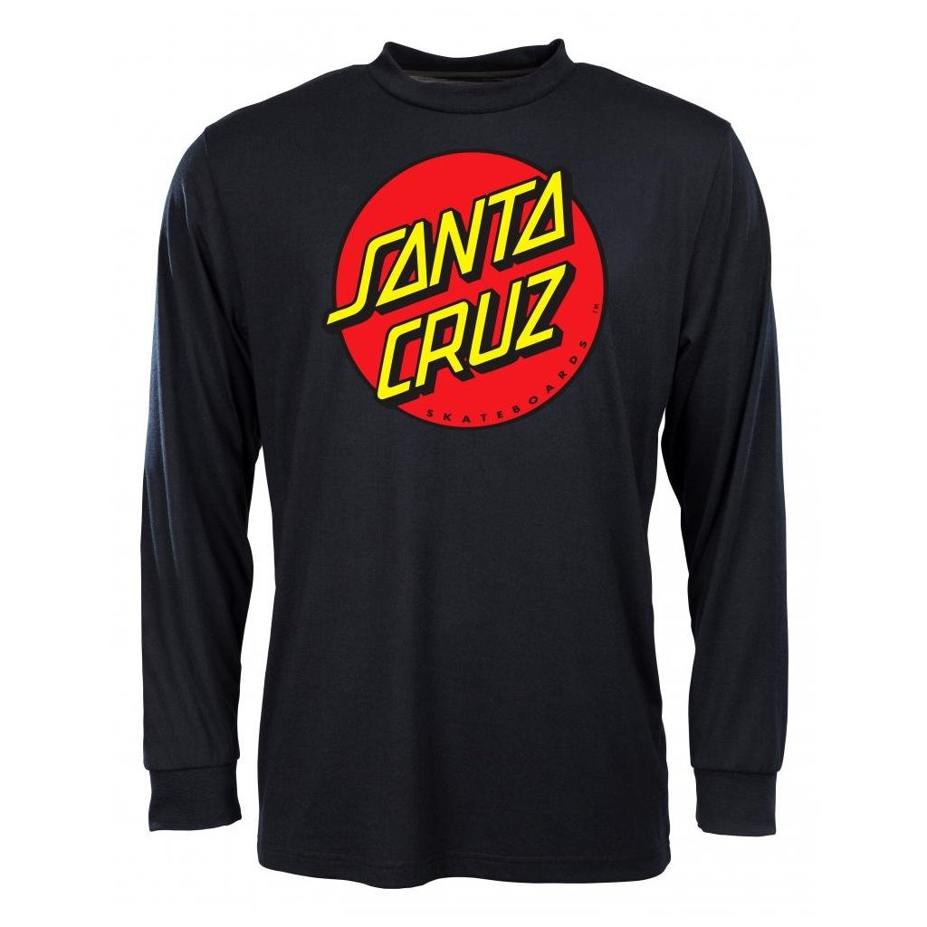 Santa Cruz - Classic Dot Longsleeve Black - Pánské triko