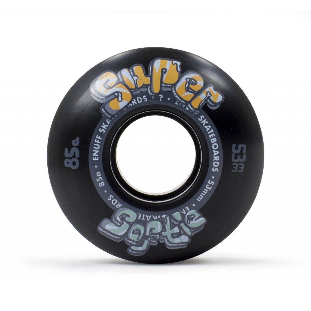 Enuff - Super Softie 53/55/58 mm - 85a - Black - kolečka (sada 4ks)