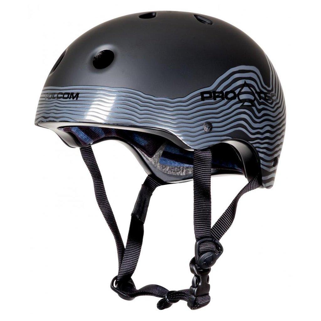 Pro-Tec - Classic Cert Volcom Mag Vibes Matte Black - helma