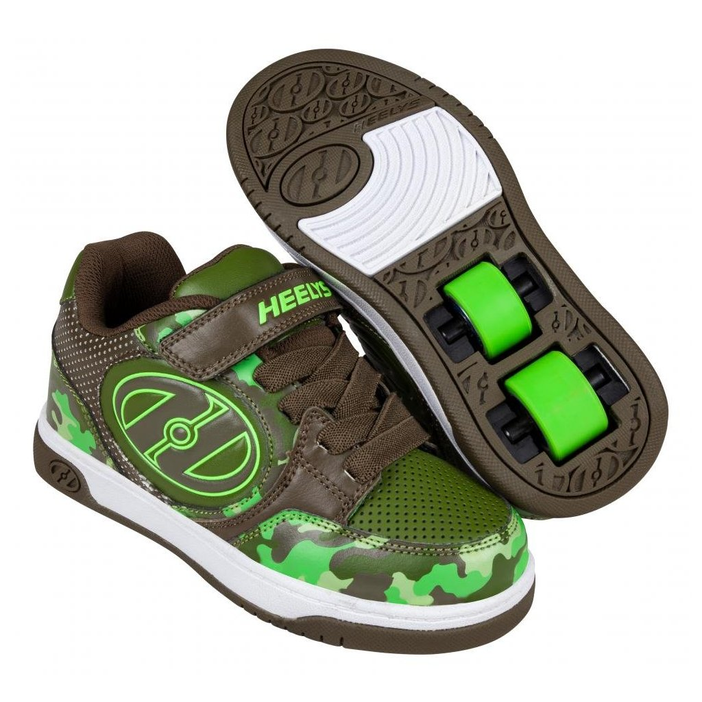 Heelys - Plus X2 Dark Green/Camo - koloboty