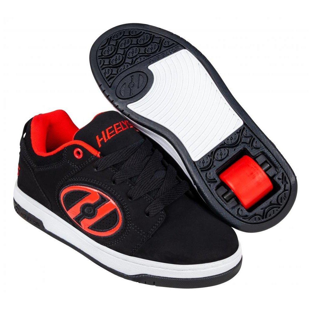 Heelys - Voyager NuBuck Black/Red - koloboty