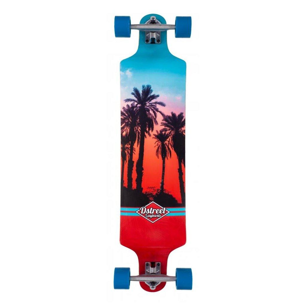 "D-Street - Drop Down Hawaiian 38"" - longboard"
