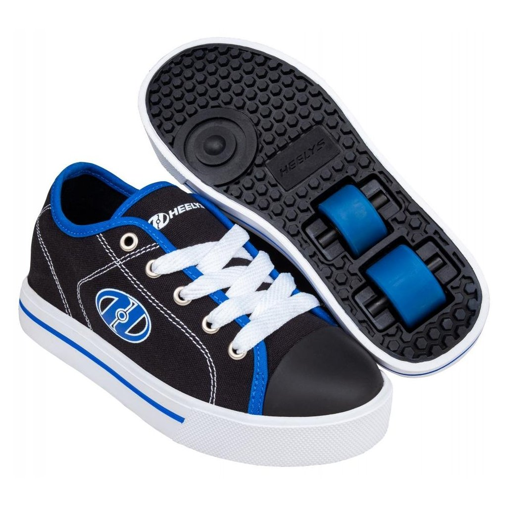 Heelys - Classic X2 Black/White/Blue - koloboty