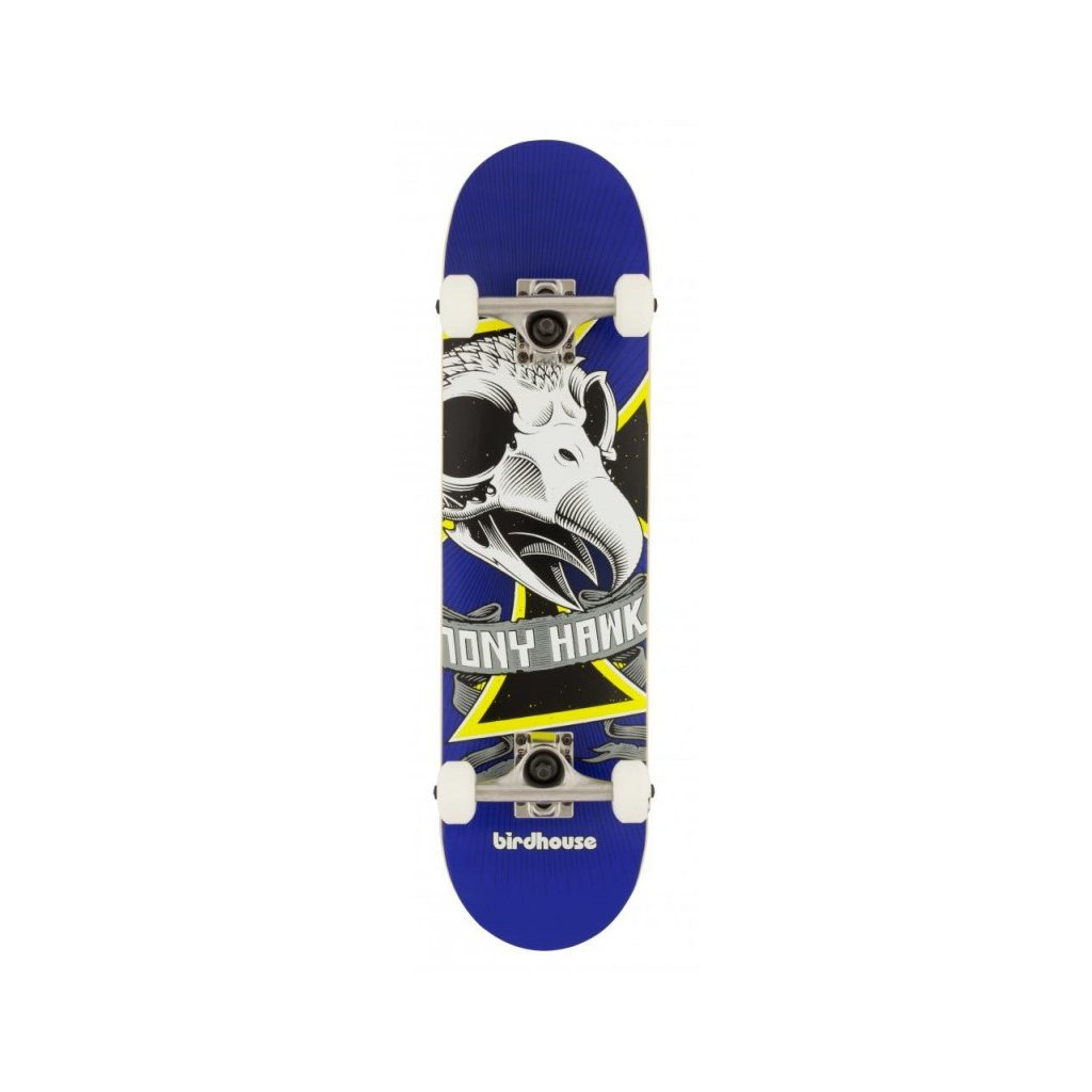 birdhouse stage 1 oversized skull mini blue 725 complete skateboard