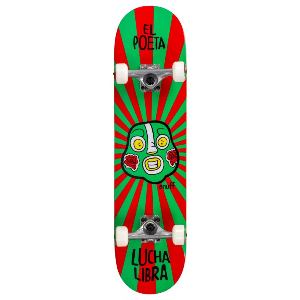 ENU2525 ENU2575 Enuff Skateboards Lucha Libre Red Green Main