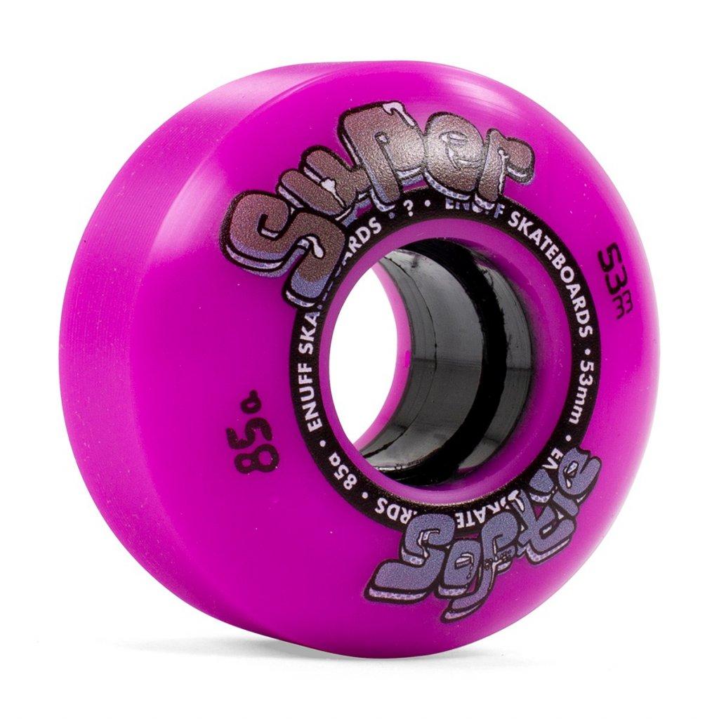 ENU540 Enuff Skateboards Super Softie Wheels Purple 53mm Angle