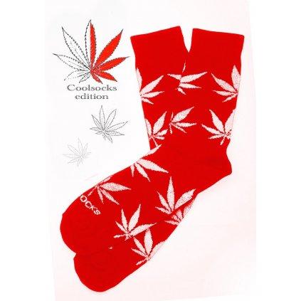Coolsocks - Ponožky s motivem - Červené