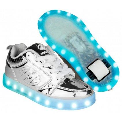 Heelys - Premium 1 Lo Silver Chrome - koloboty