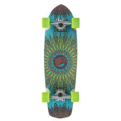 "Mindless - Mandala 28"" Blue longboard"