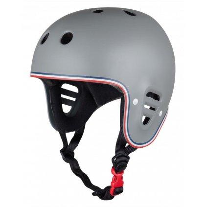 Pro-Tec - FullCut Certified Matte Grey Trike - helma