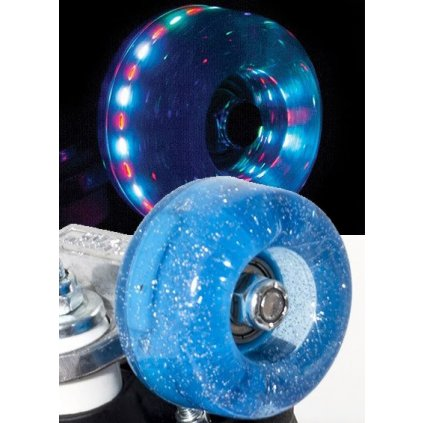 Rio - Roller Light Up - Blue Glitter (sada 4 koleček)