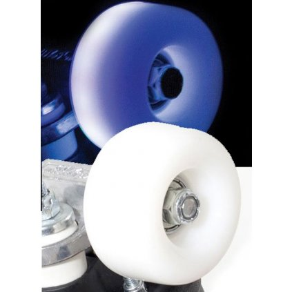 Rio - Roller Light Up - White Frost (sada 4 koleček)