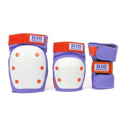 Rio Roller - Dámská Sada chráničů - Triple Pad Set Purple/Orange