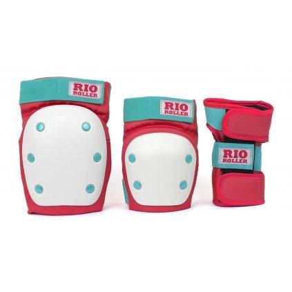 Rio Roller - Dámská Sada chráničů - Triple Pad Set Red/Mint