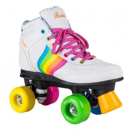 Rookie - Forever Rainbow White - trekové brusle