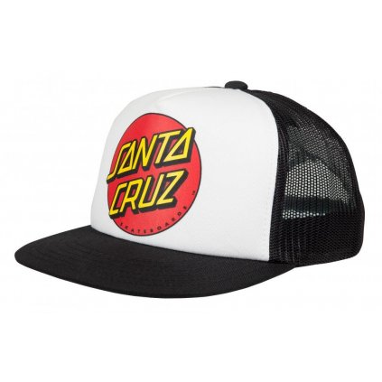 Santa Cruz - Classic Dot Mesh Cap - White/Black - Pánská čepice