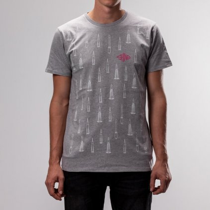 Shine - Bye Bye Bitch Grey - Pánské triko