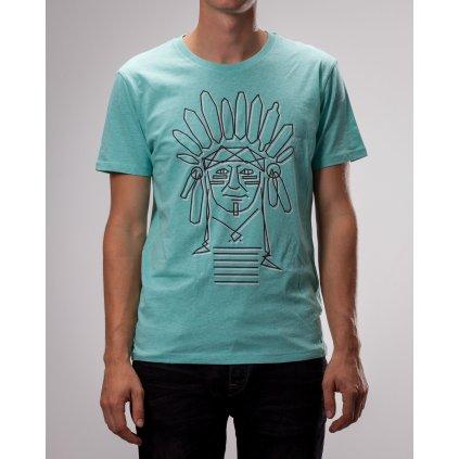 Shine - Kmen Indian Teal - Pánské triko