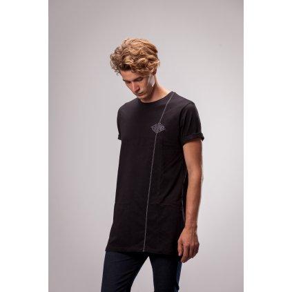 Shine - Shine Line Long Black - Pánské triko