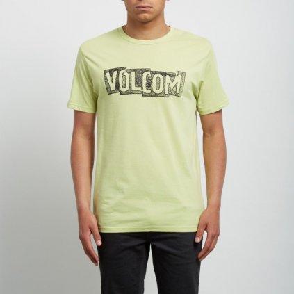 Volcom - Edge Bsc Ss Shadow Lime - Pánské triko