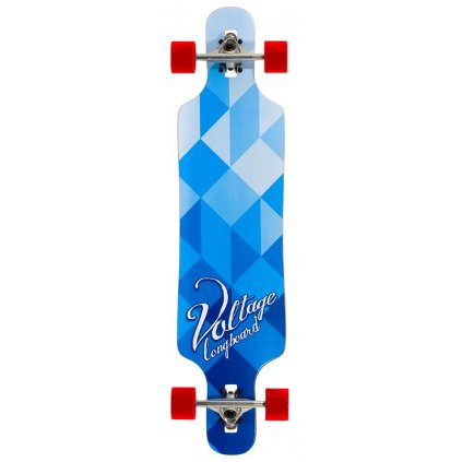 "Voltage - Cubism DT V2 39"" Blue longboard"