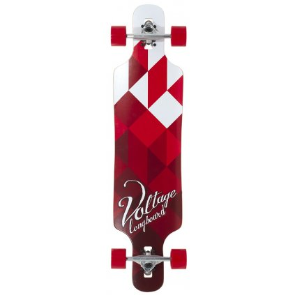 "Voltage - Cubism DT V2 39"" Red longboard"