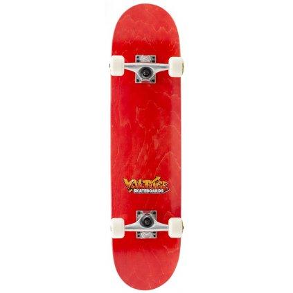 "Voltage - Graffiti Logo 7,5"" Red - skateboard"