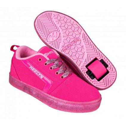 Heelys - GR8 Pro Hot Pink/Light Pink/Glitter - koloboty