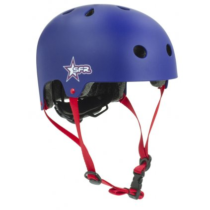 H139 SFR Kids Adjustable Helmet Star Blue Red Main