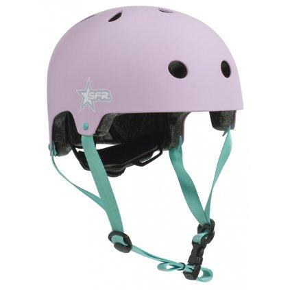 H139 SFR Kids Adjustable Helmet Star Pink Green Main