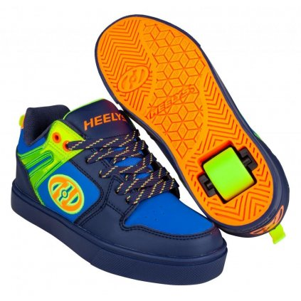 Heelys - Motion 2.0 Navy/Bright Yellow/Orange - koloboty