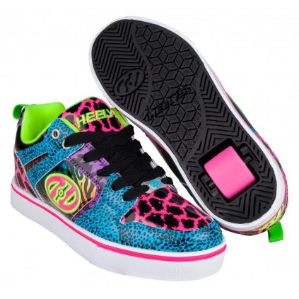 Heelys - Motion 2.0 Cyan/Pink/Purple/Animal Print - koloboty