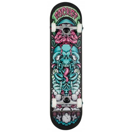 "Rocket - Bones Pile-up Black - 7.75"" - skateboard"