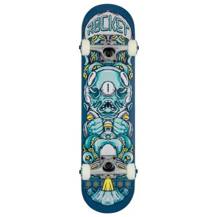 "Rocket - Alien Pile-up Blue - 7.375"" - skateboard"
