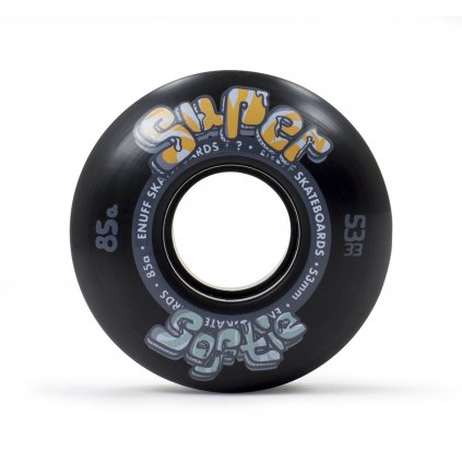 Enuff - Super Softie 53/55/58 mm - 85a - Black - kolečka (sada 4ks)
