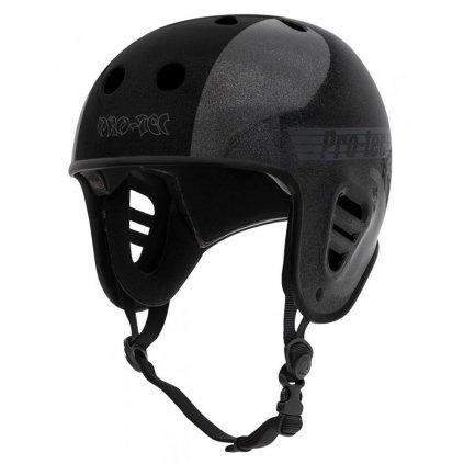 Pro-Tec - Full Cut Cert Hosoi Metallic Black - helma