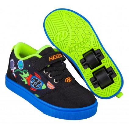 Heelys - Pro 20 X2 - Black/Blue/Olympic Yellow Space -  boty s kolečky