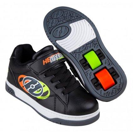 Heelys - Swerve X2 - Black/Neon Yellow/Flame -  boty s kolečky