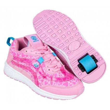 Heelys - Nitro Light Pink/Pink Hearts - koloboty