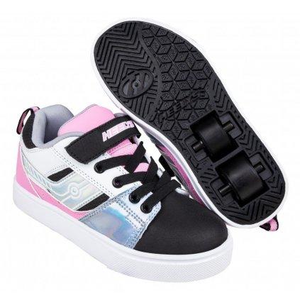 Heelys - Racer 20 X2 - Black/Silver/White/Light Pink - koloboty