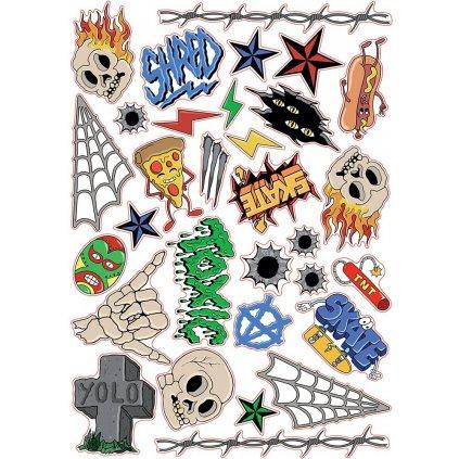 SFR - Sticker Sheet Skulls - Samolepky