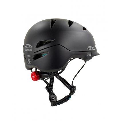 RKD360 REKD Urbanlite E Ride Helmet Black Rear Angle